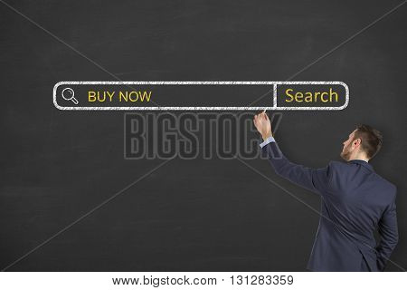 Buy Now on Search Engine Concept Working Conceptual Business Concept