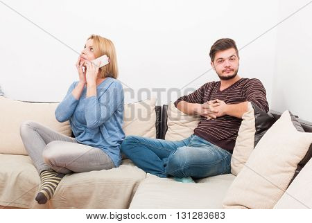 Cheating Wife Talking Privately On The Phone