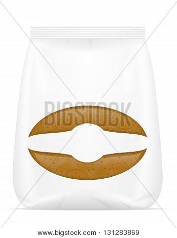 biscuit in packaging vector illustration isolated on white background