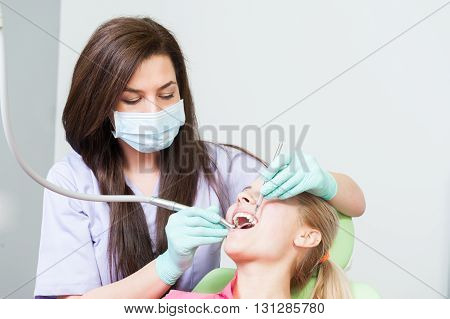 Dentist Woman Doctor Working On Perfect Denture