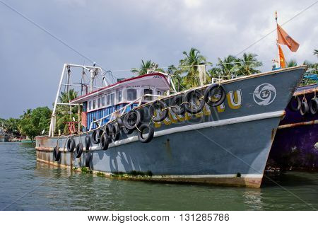 Indian Fishing Boats  In Kerala