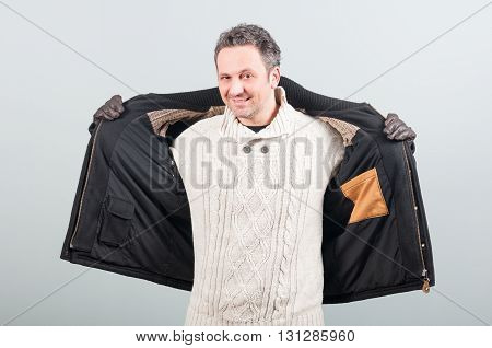 Picture Of Casual Stylish Man With Pullover And Jacket