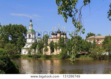 VOLOGDA, RUSSIA - May 29, 2013: Here is daytime landscape in the Russian province near the city of Vologda.