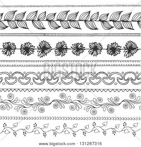 Ornamental seamless pattern. Vintage boho style background. Ethnic patterned vector illustration. African, indian, totem tribal design. Sketch for coloring page, tattoo, poster, t-shirt