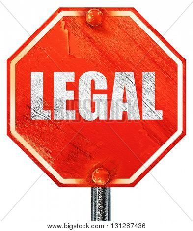 legal, 3D rendering, a red stop sign