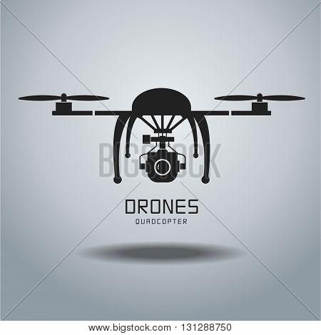 drone quadrocopter drone vector drone icon drone flat designdrone camera drone logo drone graphicdrone EPS