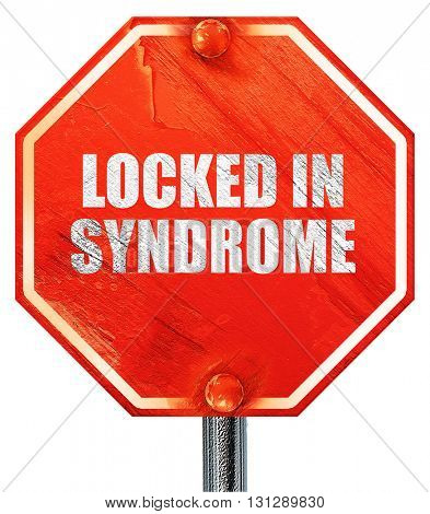 locked in syndrome, 3D rendering, a red stop sign