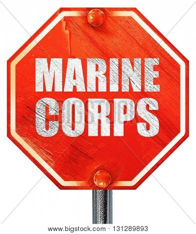 marine corps, 3D rendering, a red stop sign