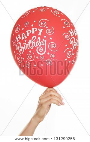 Red Balloon In Hand