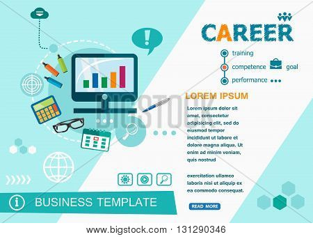Career Concepts Of Words Learning And Training.