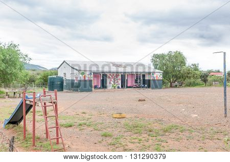 WOLWEFONTEIN SOUTH AFRICA - MARCH 7 2016: The primary school in Wolwefontein a small village between Kirkwood and Jansenville in the Eastern Cape Province