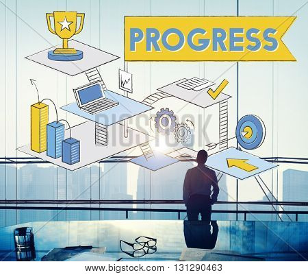 Progress Advance Growth Improvement Better Concept