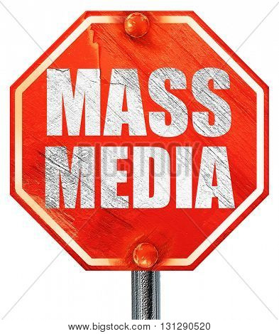 mass media, 3D rendering, a red stop sign
