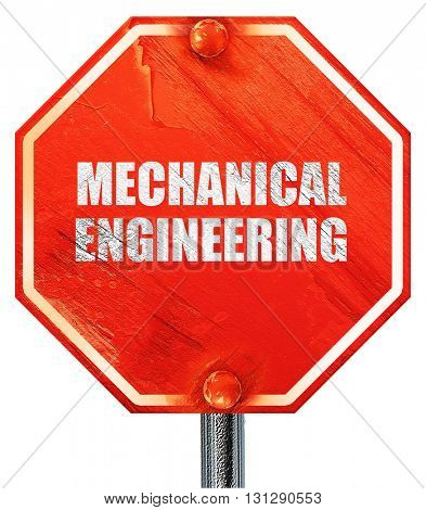 mechanical engineering, 3D rendering, a red stop sign