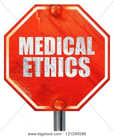 medical ethics, 3D rendering, a red stop sign