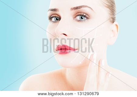 Close-up Of Female Preventing Wrinkles By Using Face Cream