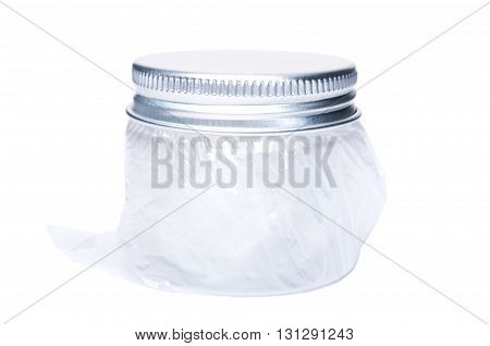 Medium Size Plastic Jar With Aluminum Cap Or Lid