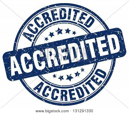 accredited blue grunge round vintage rubber stamp.accredited stamp.accredited round stamp.accredited grunge stamp.accredited.accredited vintage stamp.