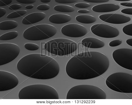 The porous surface structure abstract 3d background.