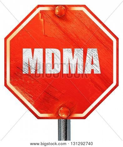 mdma, 3D rendering, a red stop sign