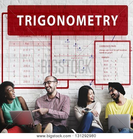 Trigonometry Mathematics Calculation Chart Concept