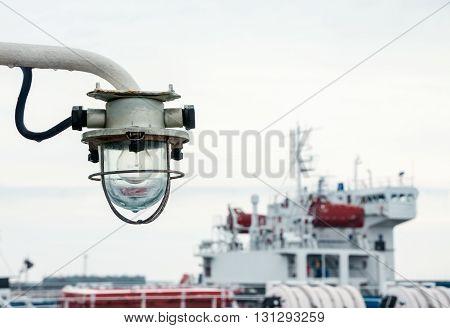 Old lantern on a ship. ( Transportion )