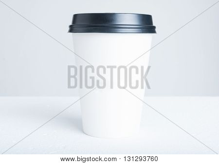 Break Time Coffee Concept With Paper Cup With Plastic Top