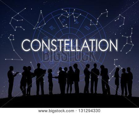 Constellation Astronomy Horoscope Fortune Telling Zodiac Concept