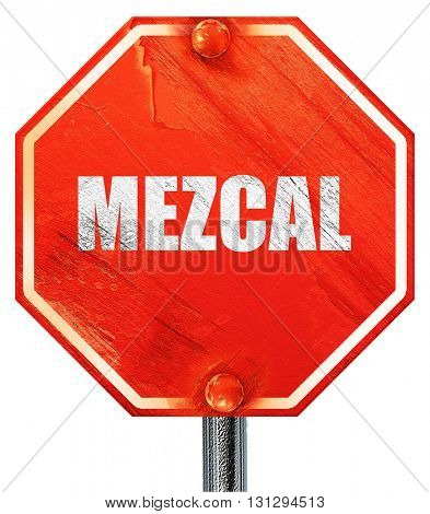 mezcal, 3D rendering, a red stop sign