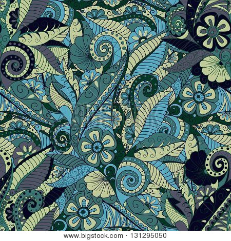 Seamless floral pattern in trendy color. Background textile cover wrapper.