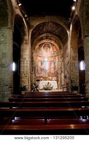 Interior Church Of Santa Maria De Taull, Catalonia, Spain