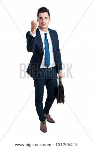 Entrepreneur Or Boss Manager Threatening With His Fist