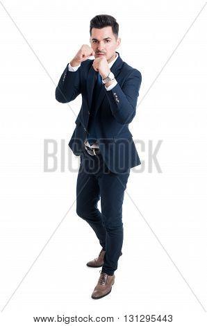 Manager Entrepreneur Or Broker Fighting Position