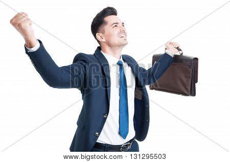 Successful Businessman Or Salesman Concept
