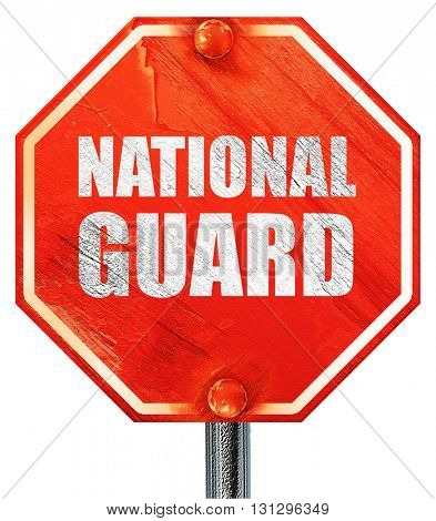 national guard, 3D rendering, a red stop sign