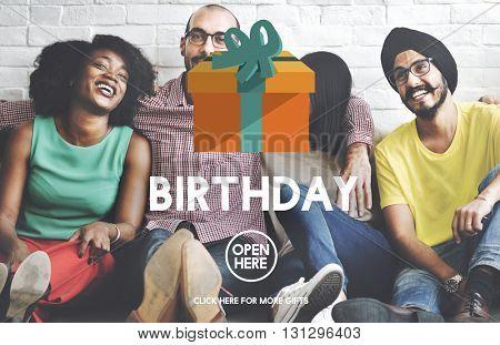Birthday Anniversary Celebration Happiness Gift Present Concept
