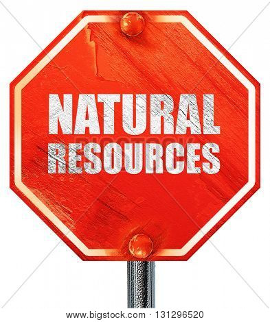 natural resources, 3D rendering, a red stop sign
