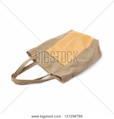 Rag brown Female bag isolated over the white background