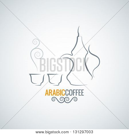 arabic coffee vintage ornate vector background 8 eps