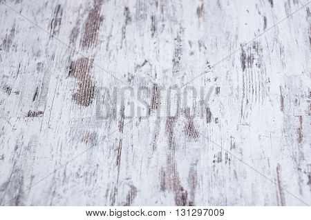 Background texture of old white painted wooden lining boards wall.