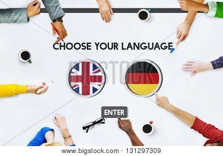 Language Dictionary English German Concept