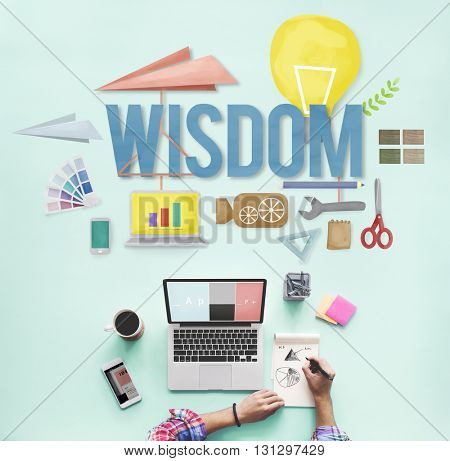 Wisdom Knowledge Intelligence Education Insight Concept