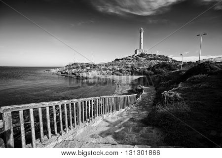 Lighthouse in Cabo de Palos, Cartagena, Spain