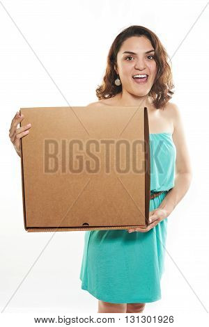 Funny Girl With Pizza