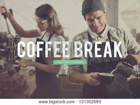 Coffee Time Cafe Break Barista Concept