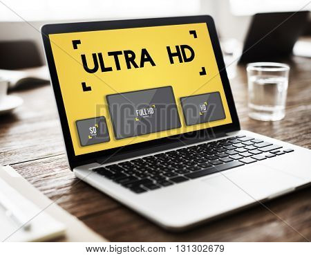 Ultra HD Definition Monitor Resolution Screen Concept