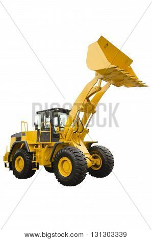 Big bulldozer isolated on a white background