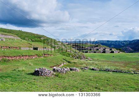 Sacsayhuaman, Inca Ruins In Cusco. Peru
