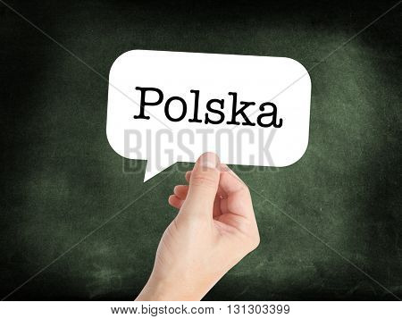 Polska written on a speechbubble