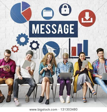 Message Communication Information Social Networking Concept